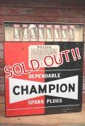 dp-190508-05 CHAMPION / 1960's Spark Plugs Cabinet