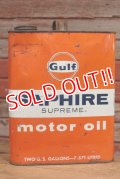 dp-190601-15 Gulf / 1960's Saphire Supreme Two U.S Gallons Motor Oil Can
