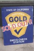 dp-190601-16 California GOLD SHIELD / Smog Check Station 1980's〜Metal Sign