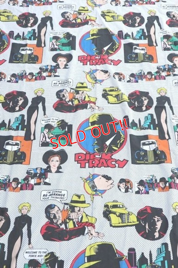 画像1: ct-190605-44 Dick Tracy / 1990's Flat Sheet (Twin)