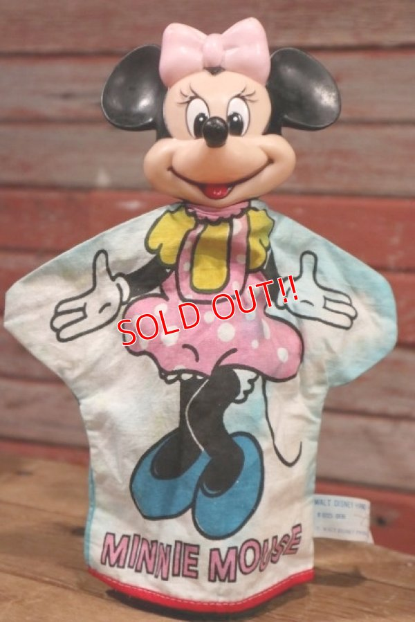 画像1: ct-190605-62 Minnie Mouse / 1970's Hand Puppet