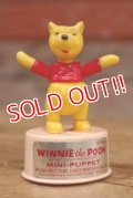 ct-160901-151 Winnie the Pooh / Kohner Bros 1970's Mini Push Puppet