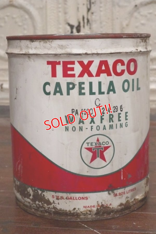 画像1: dp-190701-03 TEXACO / 1966 5 U.S.Gallons Motor Oil Can