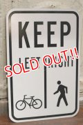 """dp-190701-42 Road Sign """"KEEP LEFT RIGHT"""""""