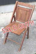 dp-190701-17 Vintage Wood Folding Chair