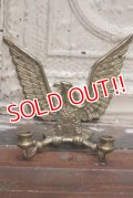 dp-190522-02 Vintage Brass Eagle Candle Holder