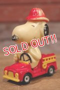 "ct-190801-02 Snoopy / AVIVA 1970's Die Cast Car ""Fire Engine"""