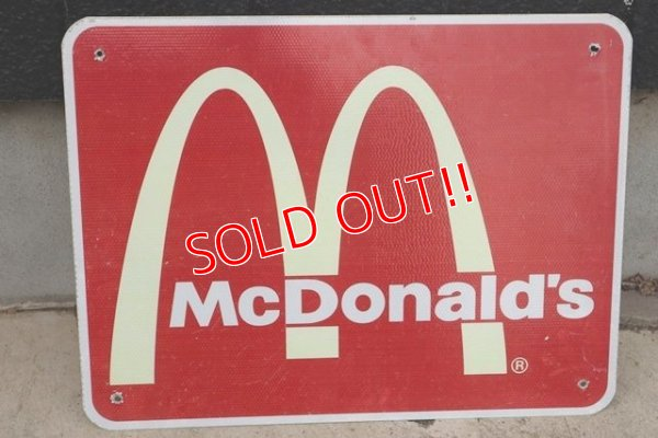 画像1: dp-190801-39 McDonald's / Road Side Sign