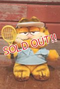 "ct-190910-64 Garfield / 1980's Plush Doll ""Tennis"""