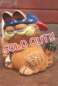 "ct-190905-03 Garfield / Enesco 1980's Ceramic Coin Bank ""Baseball"""