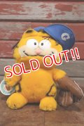 "ct-190901-10 Garfield / DAKIN 1980's Plush Doll ""Baseball"""