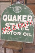 dp-190901-28 Quaker State / 1940's W-side Metal Sign