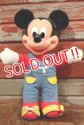 ct-191001-103 Mickey Mouse / Mattel 1989 LEARN-TO-DRESS Plush Doll