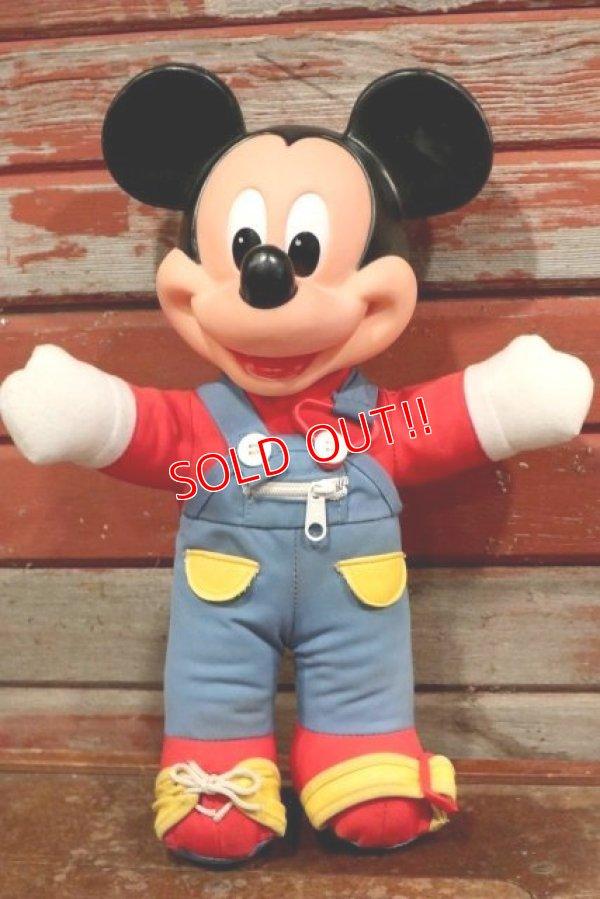 画像1: ct-191001-103 Mickey Mouse / Mattel 1989 LEARN-TO-DRESS Plush Doll