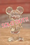 ct-191001-99 Mickey Mouse / 1970's Clear Plastic Figure