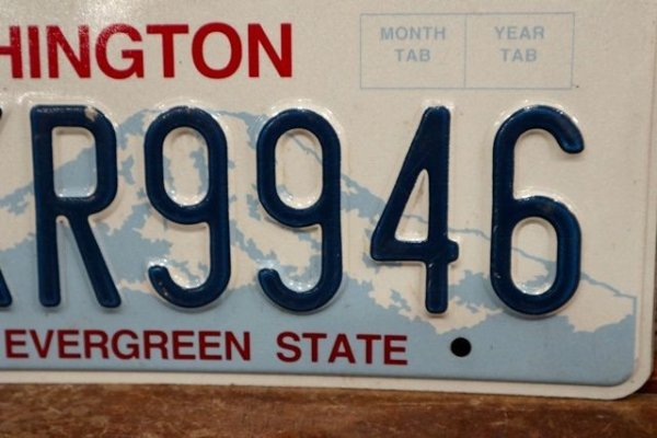 "画像3: dp-191101-20 License Plate ""Washington"" (B)"