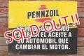 dp-191101-31 Pennzoil / 1990's W-side Plastic Sign