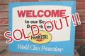 """dp-191101-30 Pennzoil / 1990's W-side Plastic Sign """"WELCOME"""""""