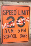 "dp-191101-37 Road Sign ""SPEED LIMIT 20 8 A.M.-5 P.M. SCHOOL DAYS """