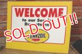 """dp-191101-28 Pennzoil / 1990's W-side Plastic Sign """"WELCOME"""""""