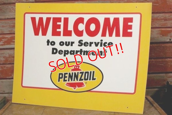 "画像1: dp-191101-28 Pennzoil / 1990's W-side Plastic Sign ""WELCOME"""
