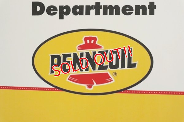 "画像2: dp-191101-28 Pennzoil / 1990's W-side Plastic Sign ""WELCOME"""