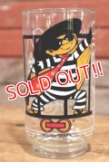 "gs-191201-10 McDonald's / 1977 Action Series ""Hamburglar"" Glass"