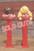 ct-191201-25 PEZ Boy & Girl / 1990's PEZ Dispenser set of 2