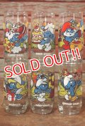 gs-191201-01 Smurfs / Hardee's 1983 Promotion Glass Complete Set
