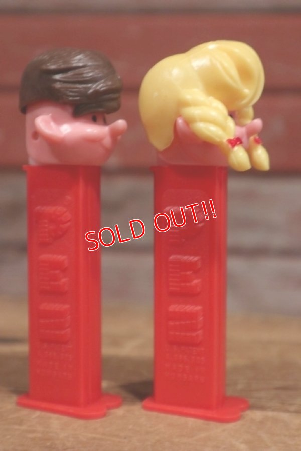 画像4: ct-191201-25 PEZ Boy & Girl / 1990's PEZ Dispenser set of 2