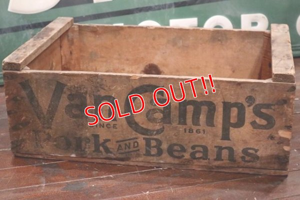 画像1: dp-191201-46 Van Camp's / Vintage Wood Box