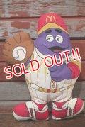 "ct-191211-08 McDonald's / Grimace 1988 Pillow Doll ""Baseball"""