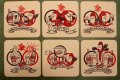 ct-200101-28 Budweiser / BUD MAN 1970's-1980's Coaster Set