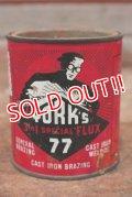 dp-200101-21 YORK'S 77 / Vintage Cast Iron Brazing Can