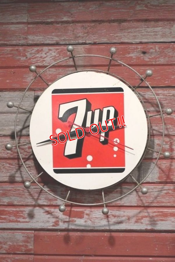 画像1: dp-200201-02 7up / 1950's Wall Clock