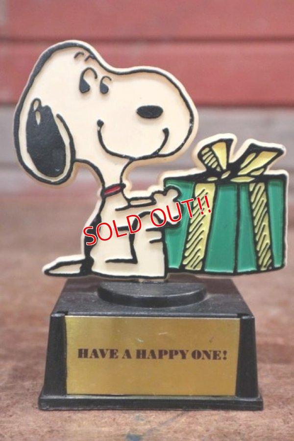 """画像1: ct-200201-08 Snoopy / AVIVA 1970's Trophy """" Have a Happy One!"""""""