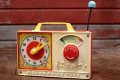 "ct-200101-30 Fisher-Price Toys / Musical Box 1971 ""Hickory Dickory Dock"""