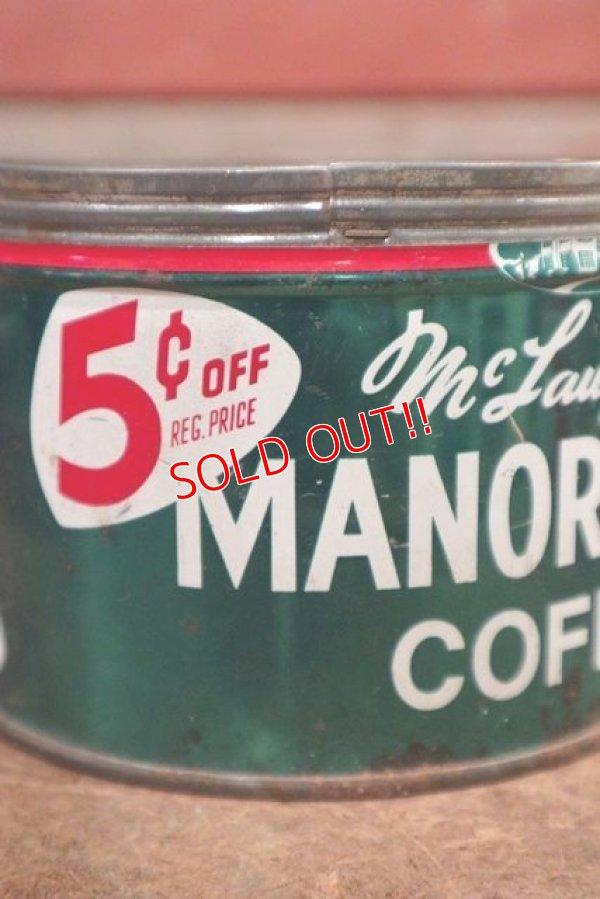 画像2: dp-200301-14 MANOR HOUSE COFFEE / Vintage Tin Can