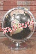 dp-200301-43 1970's Black Ocean Globe
