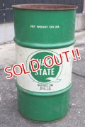 dp-200401-01 QUAKER STATE / 1970's 120 LBS. Motor Oil Can