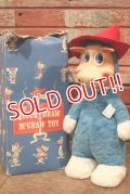 ct-200403-01 Quick Draw McGraw / Knickerbocker 1950's Rubber Face Doll