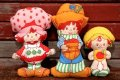 ct-200403-35 Strawberry Shortcake / 1980's Cloth Doll Set