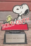 "ct-200501-17 Snoopy / AVIVA 1970's Trophy "" World's Best Secretary"""