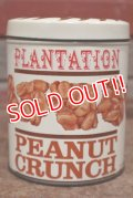 dp-200501-42 PLANTATION / Vintage PEANUTS CRUNCH Tin Can