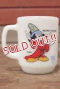 """kt-200501-15 Mickey Mouse / Anchor Hocking 1980's 9oz Mug """"FANTASIA"""""""