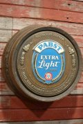 dp-200601-05 PABST EXTRA Light Beer / 1980's Barrel Display Sign