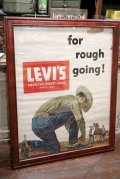 "dp-200601-13 LEVI'S / 1960's ""for rough going!"" Poster Wall Hanger"