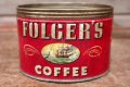 dp-200610-12 FOLGER'S COFFEE / Vintage Tin Can