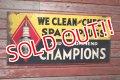 dp-200801-09 CHAMPION SPARK PLUGS / 1930's Metal Sign