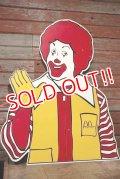 ct-208001-11 McDonald's / Ronald McDonald 1990's Bust-up Sign